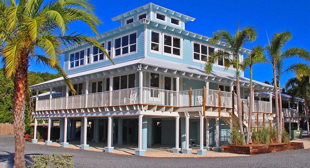 Outside shot of a Dolphin Point Villas' villa