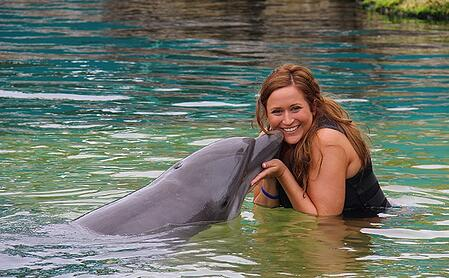 Dolphin Kiss at Dolphins Plus